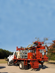 DR155 Water Well Drilling Rig featuring up to 15 foot drill stems